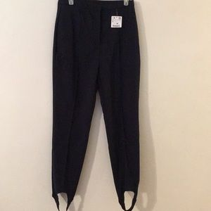 NWT Zara Basic Navy Stirrup Pants - Sz Large